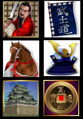 Ronin Symbols- Click Play Ronin Slots at Cool Cat Casino